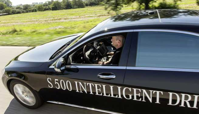 Mercedes Intelligent Drive Driverless Car